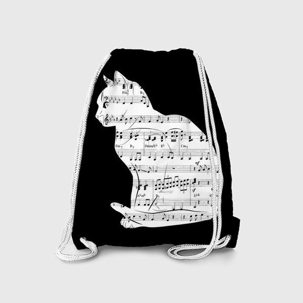 Рюкзак «Музыкальный кот ноты»