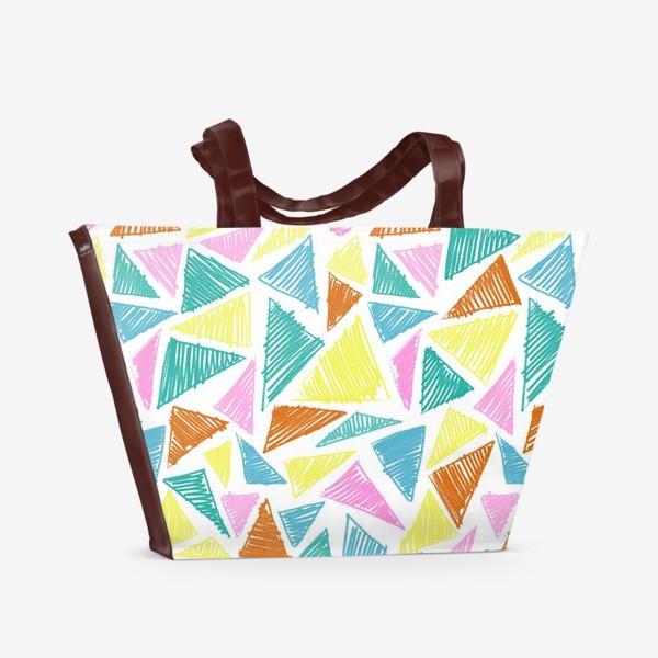 Пляжная сумка «Цветные треугольники»