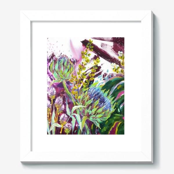 Картина «Монстера и артишоки»