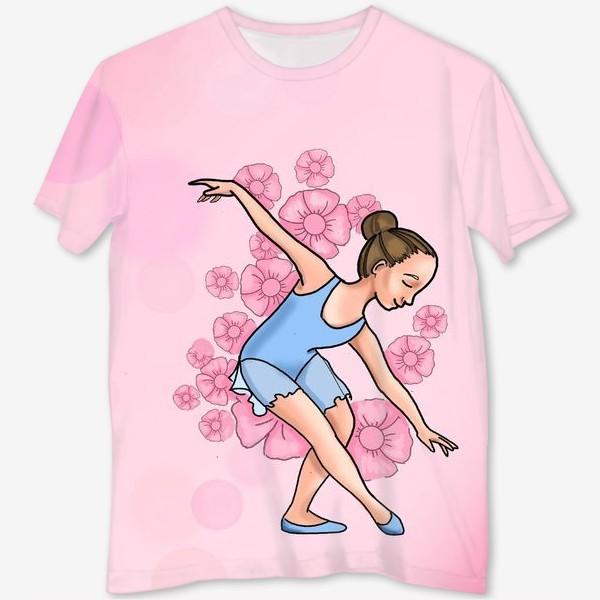 Футболка с полной запечаткой «танцы. танцовщица»
