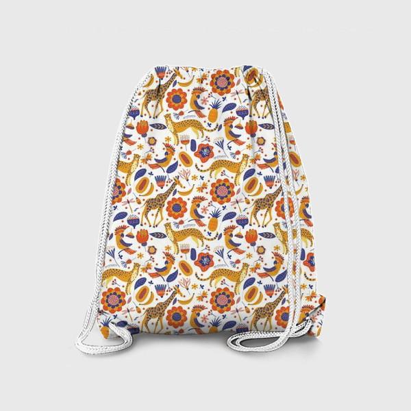 Рюкзак «Экзотические животные и цветы»