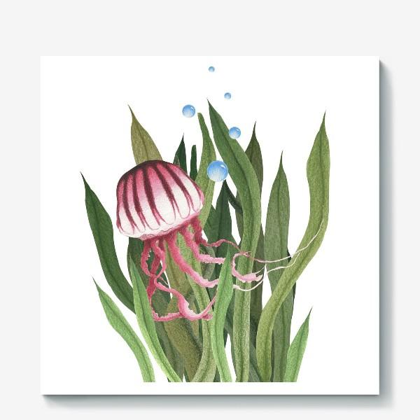 Холст «Медуза в водорослях»