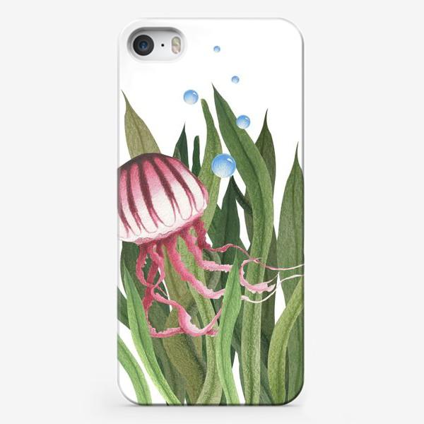 Чехол iPhone «Медуза в водорослях»