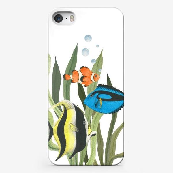 Чехол iPhone «Океанические рыбки в водорослях»