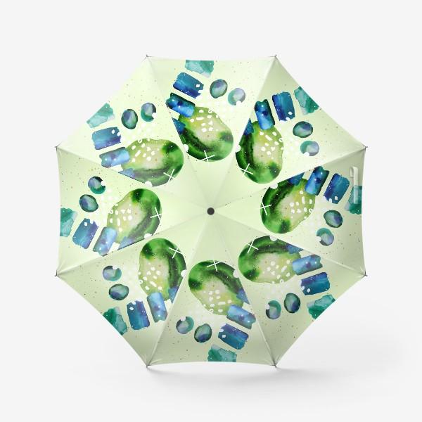 Зонт «Акварельный абстрактный геометрический фон с золотыми элементами»