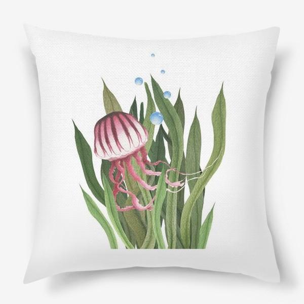 Подушка «Медуза в водорослях»