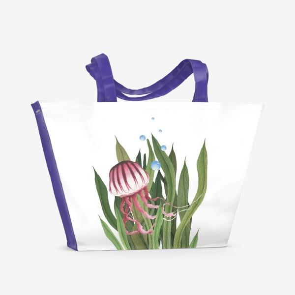 Пляжная сумка «Медуза в водорослях»