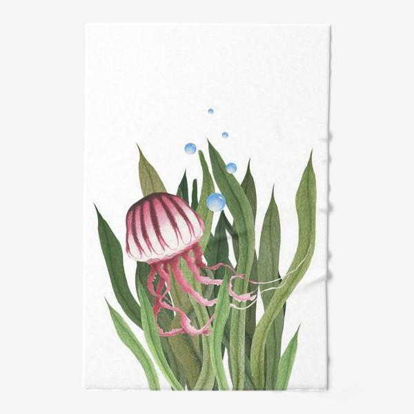 Полотенце «Медуза в водорослях»