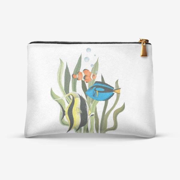 Косметичка «Океанические рыбки в водорослях»