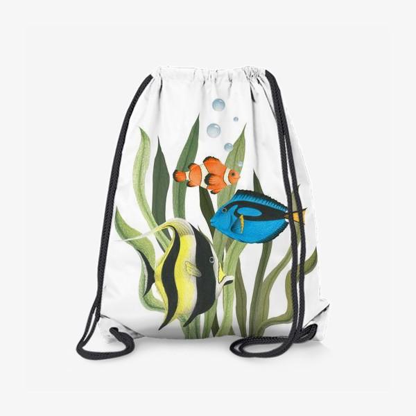 Рюкзак «Океанические рыбки в водорослях»