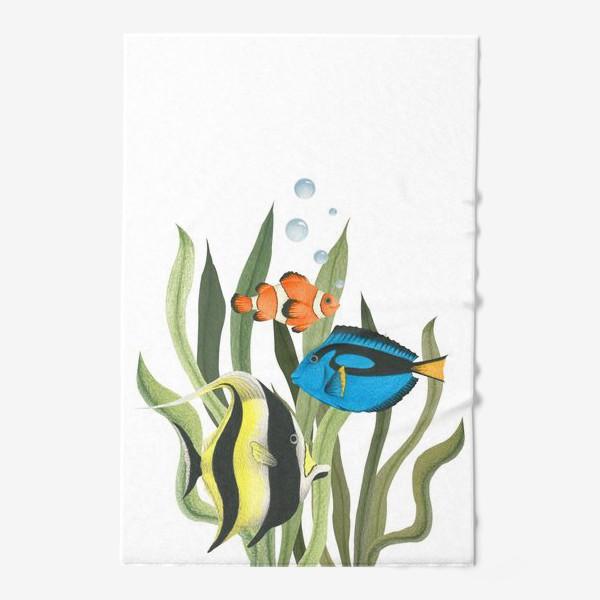 Полотенце «Океанические рыбки в водорослях»