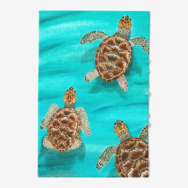 Полотенце «Плывущие морские черепахи»