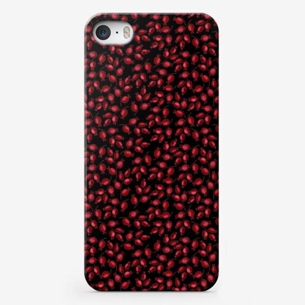 Чехол iPhone «Паттерн ягодки шиповника»