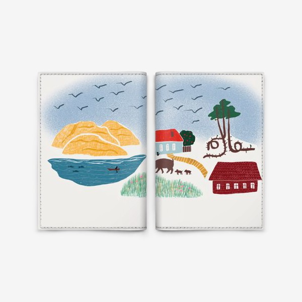 Обложка для паспорта «Привет с Балтийского моря - Куршская коса»