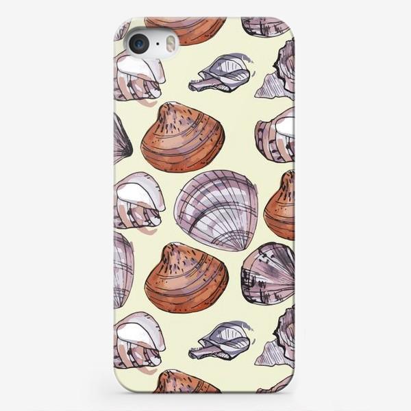Чехол iPhone «Ракушки. Морская тема.»