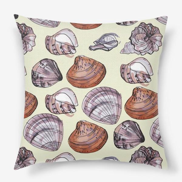 Подушка «Ракушки. Морская тема.»