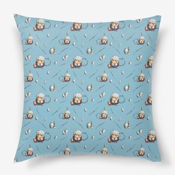 Подушка «Паттерн с куличами и яйцами»