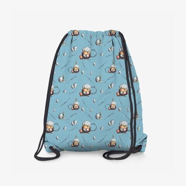 Рюкзак «Паттерн с куличами и яйцами»