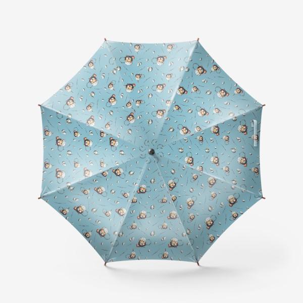 Зонт «Паттерн с куличами и яйцами»