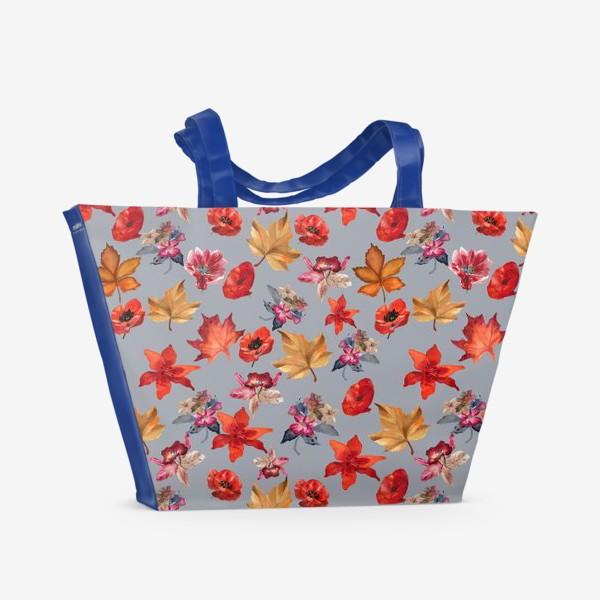 Пляжная сумка «Иллюзия цветов»