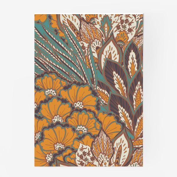 Постер «Восточный растительный орнамент в осенней палитре»