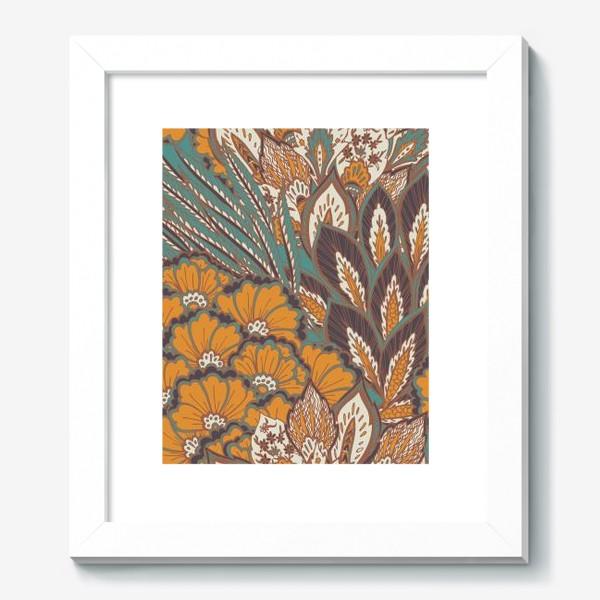 Картина «Восточный растительный орнамент в осенней палитре»