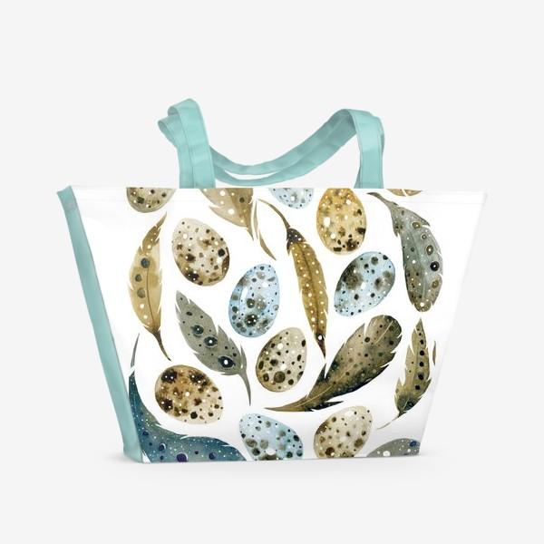 Пляжная сумка «Пёрышки»