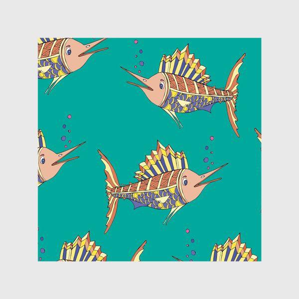 Шторы «рыбки в море»
