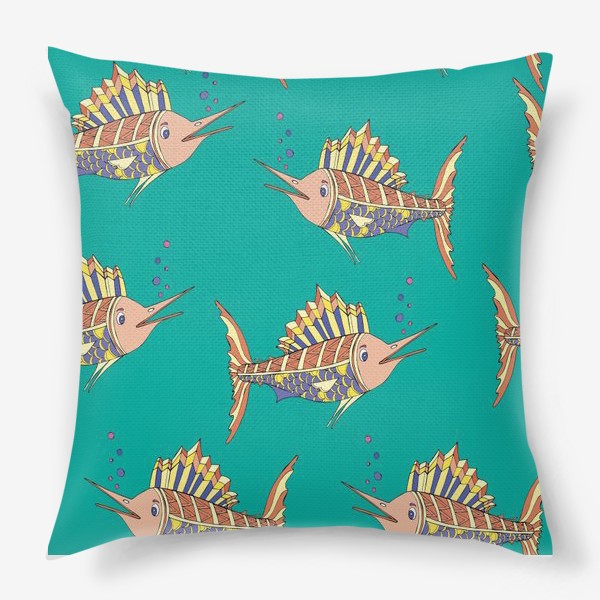 Подушка «рыбки в море»