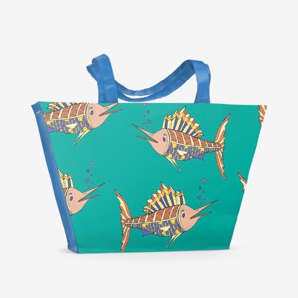 Пляжная сумка «рыбки в море»