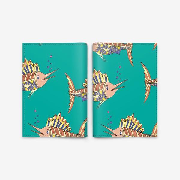 Обложка для паспорта «рыбки в море»