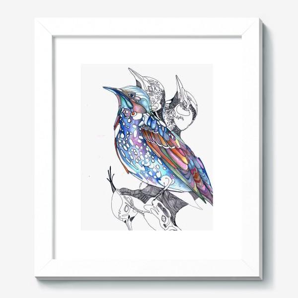 Картина «цветной скворец»