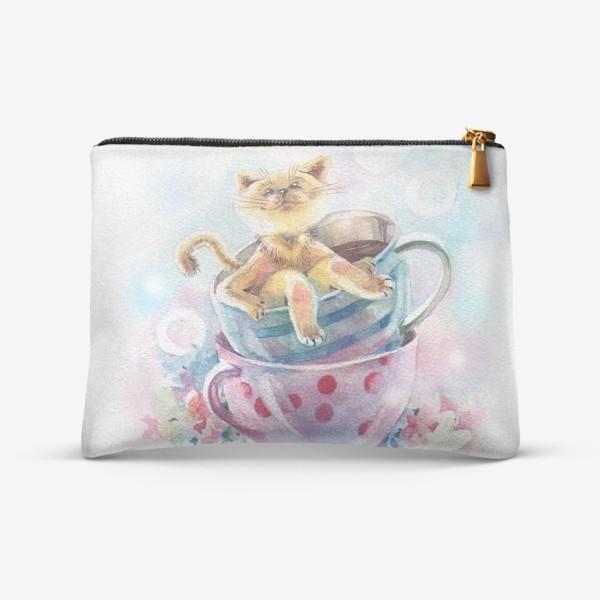 Косметичка «Кот и кофе»