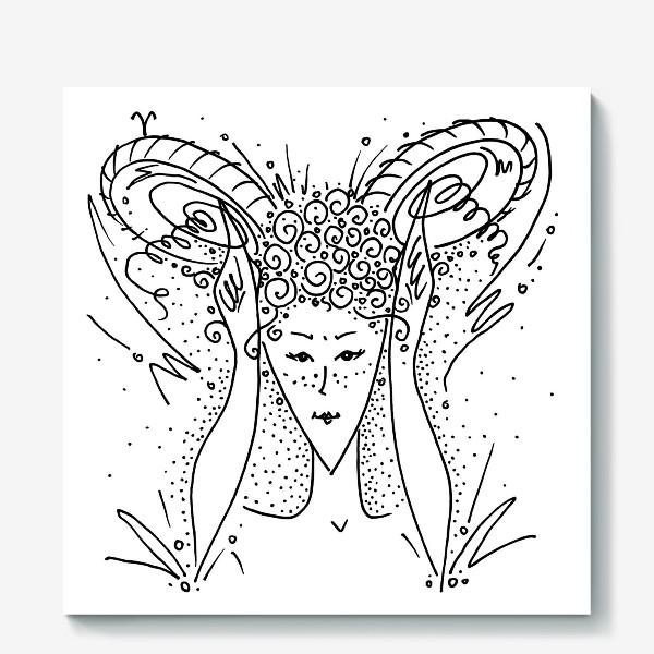 Холст «Овен зодиак»