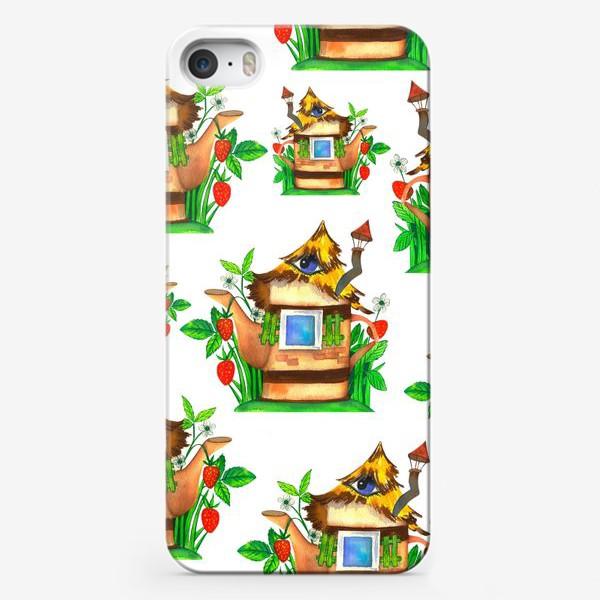 Чехол iPhone «весенние домики»