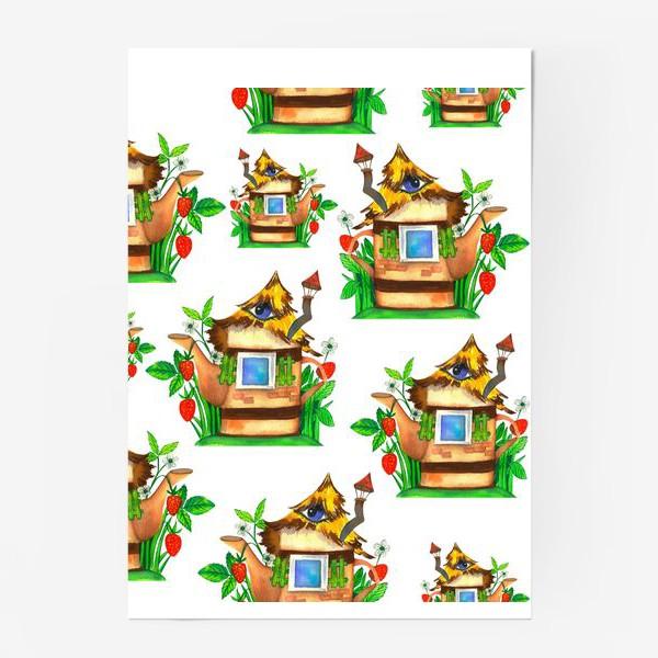 Постер «весенние домики»