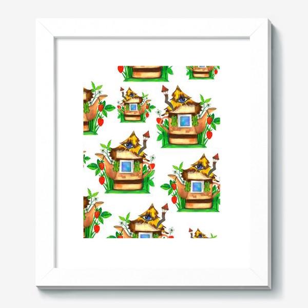 Картина «весенние домики»