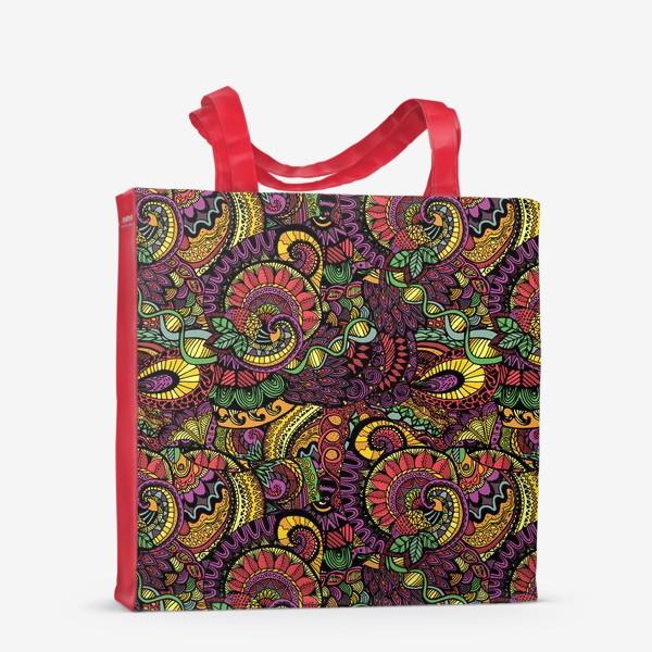 Сумка-шоппер «Яркий этнический паттерн»
