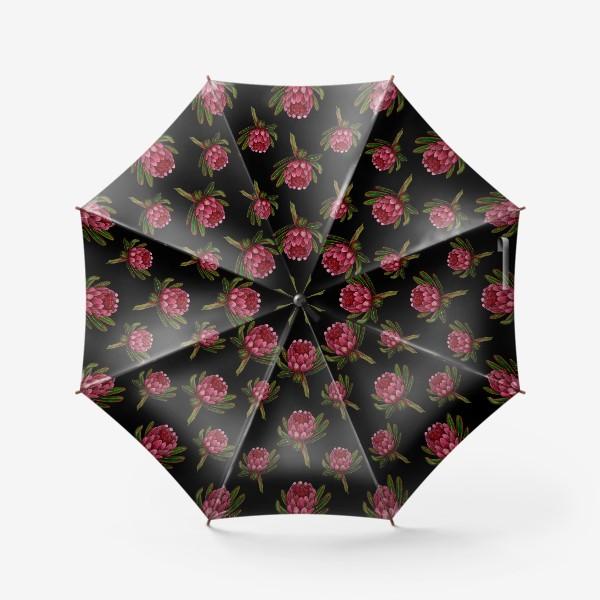 Зонт «Паттерн протея на черном фоне»