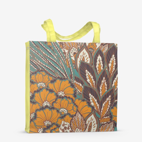 Сумка-шоппер «Восточный растительный орнамент в осенней палитре»