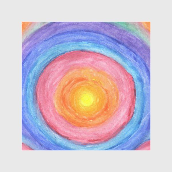 Скатерть «Акварельная геометрическая абстракция солнечный круг»