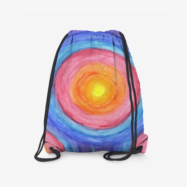 Рюкзак «Акварельная геометрическая абстракция солнечный круг»
