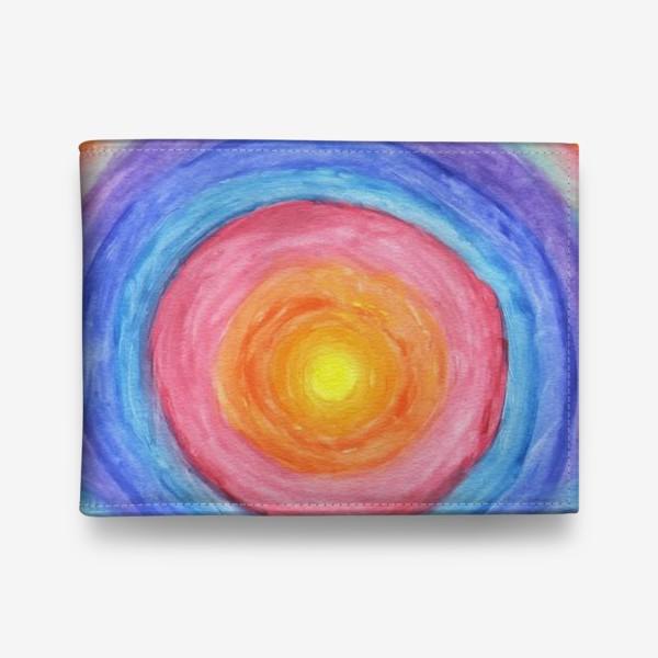 Кошелек «Акварельная геометрическая абстракция солнечный круг»