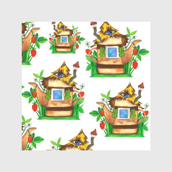 Скатерть «весенние домики»