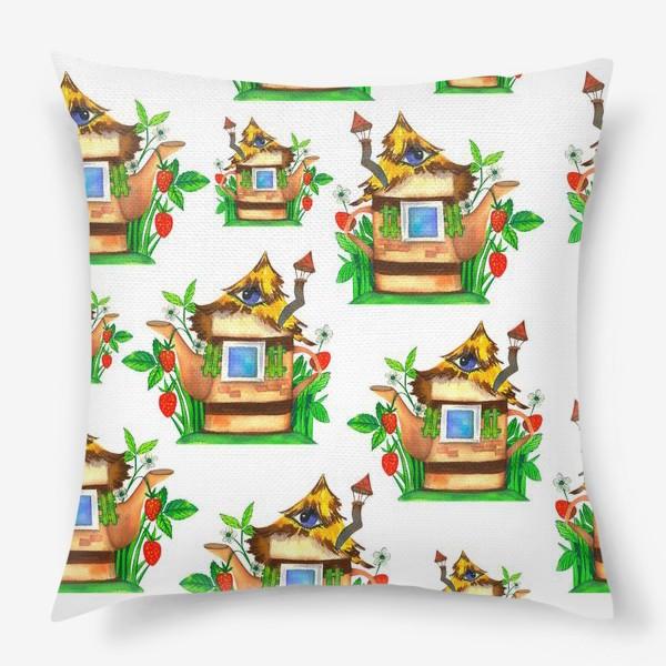 Подушка «весенние домики»