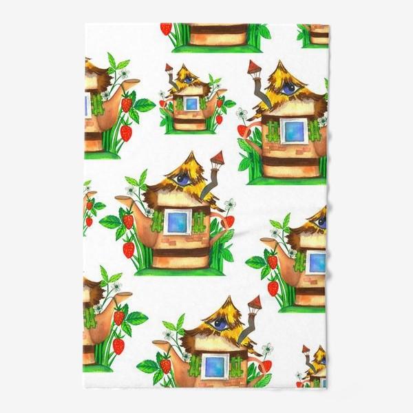 Полотенце «весенние домики»