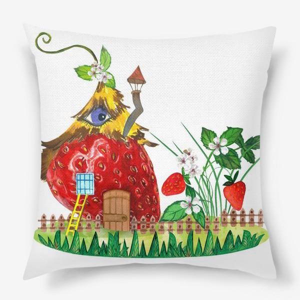 Подушка «земляничный домик»