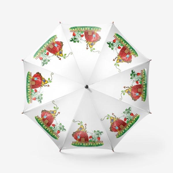 Зонт «земляничный домик»