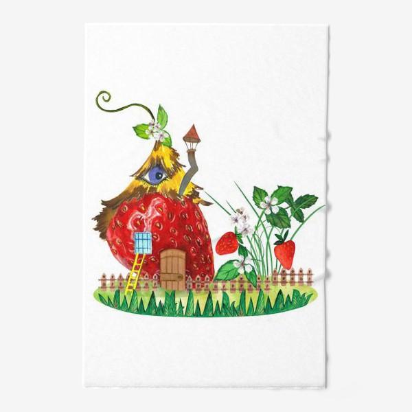 Полотенце «земляничный домик»