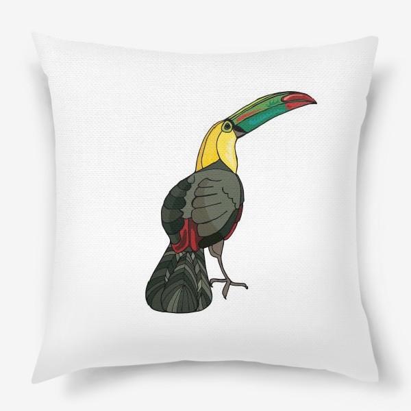 Подушка «Птица тукан»